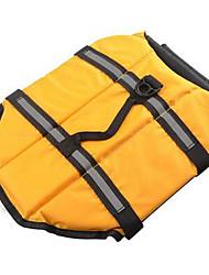 Недорогие -Собака Спасательные жилеты Одежда для собак Однотонный Желтый Синий Розовый Хлопок Костюм Для домашних животных На каждый день Спорт