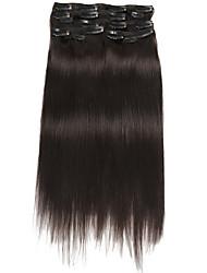 economico -Con clip Estensioni dei capelli umani Liscio Extension di capelli umani Cappelli veri Per donna