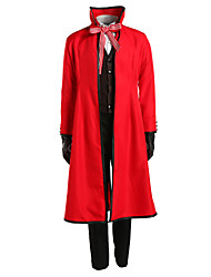 cheap -Inspired by Black Butler Death Grell Sutcliff Anime Cosplay Costumes Cosplay Suits Solid Colored Long Sleeves Cravat Coat Vest Shirt