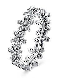 Ringe Bryllup Fest Speciel Lejlighed Halloween Daglig Afslappet Smykker Sølv Zirkonium Ring 1 Stk.,6 7 8 Sølv