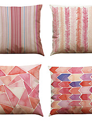cheap -4 pcs Linen Natural/Organic Pillow Case Pillow Cover, Solid Textured Beach Style Traditional/Classic Office/Business Modern/Contemporary