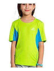 Femme Enfant Tee-shirt de Randonnée Séchage rapide Hauts/Top pour Sport de détente Eté M d'enfant L d'enfant XS d'enfant
