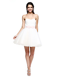 Ball Gown Sweetheart Short / Mini Lace Tulle Cocktail Party Homecoming Prom Dress with Bow(s) Sash / Ribbon by TS Couture®