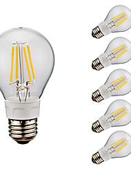 E26 LED Filament Bulbs A60(A19) 4 COB 750 lm Cold White 6500 K AC 110-130 V