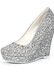 economico -Da donna Scarpe Materiali personalizzati Lustrini Primavera Estate Autunno Inverno Club Shoes Scarpe da cerimonia per bambine Tacchi Zeppa