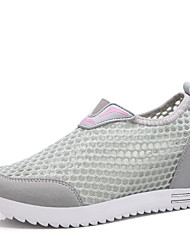 Women's Mesh Sneakers Spring Summer Creepers Comfort Tulle Office & Career Athletic Casual Creepers Purple Gray Peach Walking