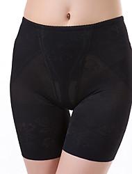 Women's Sexy Solid Slimming Body Tummy Control Shaping Panties Nylon Spandex Female Underwear Beige/Black