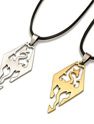 Недорогие -Муж. Ожерелья с подвесками Бижутерия В форме животных Бижутерия Динозавр Дракон Нержавеющая стальПо заказу покупателя Rock Euramerican