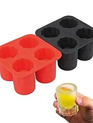 1Pcs  Only Bar Party Drink Ice Tray Cool Shape Ice Cube Freeze Mold Ice Maker Mould You Can Eat A Cup 4-Cup Ice Mold Cup  Random  Color