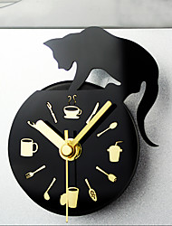 cheap -Alarm clock Analog Plastic Metal Quartz 1pcs
