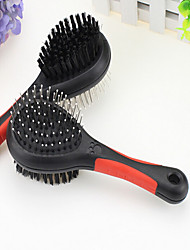 cheap -Cat Dog Grooming Cleaning Comb Brush Waterproof Double-Sided Black
