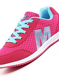 Women Mesh Sneakers Spring Summer Fall Light Soles Tulle Outdoor Sport Flat Heel Blue Gray Pink/White Rose Pink Fitness & Cross Training