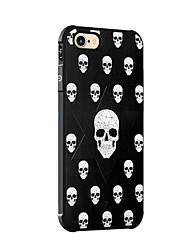 cheap -Case For Apple iPhone X iPhone 8 Shockproof Pattern Back Cover Skull Soft Silicone for iPhone X iPhone 8 Plus iPhone 8 iPhone 7 Plus