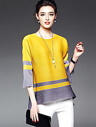 cheap -Women's Casual T-shirt - Color Block