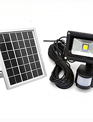cheap -1pc 10W LED Floodlight Lawn Lights Solar Infrared Sensor Waterproof Decorative Light Control Outdoor Lighting Warm White Cold White