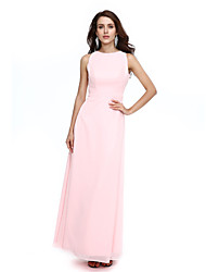 cheap -Sheath / Column Jewel Neck Floor Length Chiffon Formal Evening Dress with Sash / Ribbon by TS Couture®