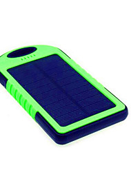 cheap -5000mAh Power Bank External Battery 5V 1A # Battery Charger Flashlight Solar Charge Super Slim LED