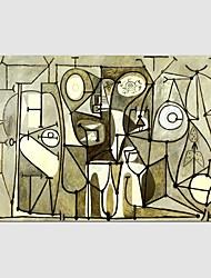 economico -Dipinta a mano Astratto Fantasia Composizione orizzontale Panoramica,Modern Classico Un Pannello Tela Hang-Dipinto ad olio For