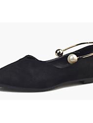 abordables -Mujer Bailarinas Confort botas slouch Semicuero Primavera Otoño Casual Paseo Confort botas slouch Perla Tacón Plano Negro Amarillo Verde