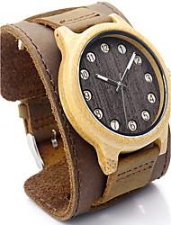 Men's Sport Watch Dress Watch Fashion Watch Wrist watch Bracelet Watch Japanese Quartz Water Resistant / Water Proof Punk Genuine Leather