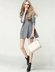 Women's Casual Knit Dress Long Sleeve Sweater Dress