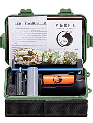 U'King LED Lommelygter LED 2000 lm 5 Tilstand Cree XM-L T6 med batteri og oplader Zoombar Justerbart Fokus Camping/Vandring/Grotte