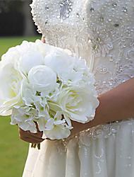 economico -Bouquet sposa Bouquet Matrimonio Seta 20 cm ca. 25 cm ca.