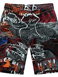 baratos -Homens Boho Tamanhos Grandes Solto Shorts Calças Estampado Patchwork