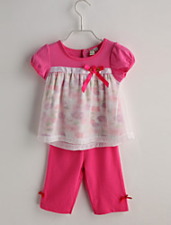Baby Girl Casual/Daily Color Block Clothing Set Summer