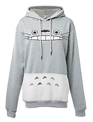 Inspired by My Neighbor Totoro Cat Anime Cosplay Costumes Cosplay Hoodies Print Long Sleeve Top More Accessories For Male Female