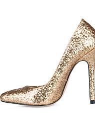 talons printemps été chaussures Club synthétique fête de mariage&robe de soirée or