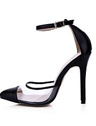 sandales Club d'été chaussures de soirée de mariage pu&robe de soirée noire