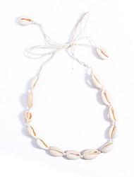 Недорогие -Ожерелья-бархатки - Морская раковина На заказ, европейский, Мода Белый Ожерелье Назначение Повседневные