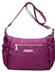Women Bags All Seasons Nylon Shoulder Bag Metallic for Casual Outdoor Office & Career Blue Black Purple