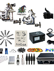 Professional Tattoo Kit 2 steel machine liner & shader 2 Tattoo Machine Inks Not Included