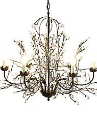 cheap -Chandelier ,  Traditional/Classic Rustic/Lodge Retro Lantern Country Globe Vintage Painting Feature for Crystal MetalLiving Room Bedroom
