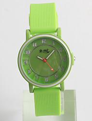 baratos -Relógio de Moda / Silicone Banda Casual Verde