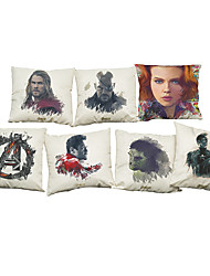 Set of 7 Avenger Union movie characters  Linen  Cushion Cover Home Office Sofa Square  Pillow Case Decorative Cushion Covers Pillowcases