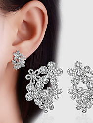 Women's Stud Earrings AAA Cubic Zirconia Circular Dangling Style Costume Jewelry Cubic Zirconia Alloy Flower Geometric Jewelry For