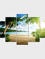 Stretched Canvas Print Landscape Style Modern,Five Panels Canvas Any Shape Print Wall Decor For Home Decoration