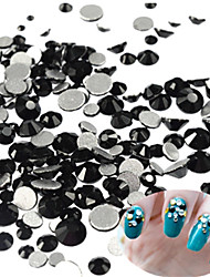 cheap -400-500pcs/bag New SS3-SS16 Mixed Size Nail Black Rhinestone Lovely Nail Art Shiny Mystic Black Rhinestone Nail Art Decoration For Manicure Beauty