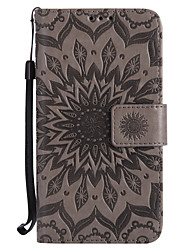 cheap -For Motorola Moto G4 Play G4 G2 Z Z Force X Style PU Leather Material Sun Flower Pattern Embossed Phone Case