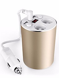 Auto-Ladegerät Goldcup Styling 3.1a USB-Autoladegerät 100w Zigarettenanzünder 12 / 24v Voltmeter Adapter Schalter