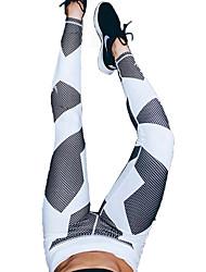 Pantaloni da yoga Pantalone/Sovrapantaloni Traspirante Compressione Comodo Naturale Elastico Abbigliamento sportivo Bianco Per donnaYoga