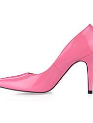 saltos primavera sapatos clube queda escritório pu&festa de carreira&vestido de noite preto branco rosa