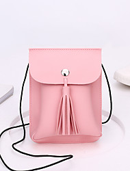 cheap -Women Bags PU Crossbody Bag for Casual Formal Office & Career All Seasons Red Blushing Pink Apricot Gray Wine