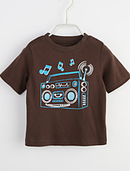 cheap -Baby Boys' Daily Geometric Tee, Cotton Summer Brown
