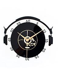 Moderne/Contemporain Traditionnel Décontracté Bureau / Affaires Vacances Musique Inspiré Famille Amis Dessin animé Horloge murale,Rond