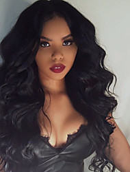 cheap -Human Hair Lace Front Wig Curly Density 100% Hand Tied African American Wig Natural Hairline Short Medium Long Women's Human Hair Lace Wig