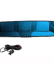 4,3 pollici videocamera dell'automobile di visione auto View LCD 1080p retrovisore dvr notte cruscotto H.264 dual veicolo lente